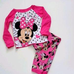 Minnie Mouse pajama set. 100% cotton 3T